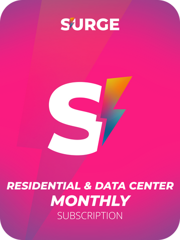 Monthly Residential & 25 Data Center Proxies