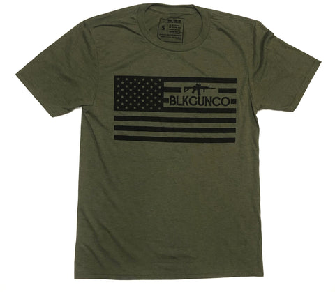 BLKGUNCO Standard Issue T-shirt (Military Green Frost)