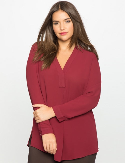 2eae7fa847f Long Sleeve Chiffon Blouse - Plus Size – La.Ma.Cosmetics