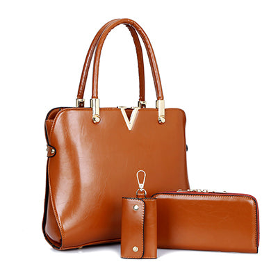 3 Pcs/Set Leather handbag, Bag, La.Ma.Cosmetics, La.Ma.Cosmetics - La.Ma.Cosmetics