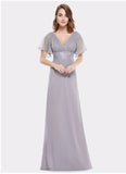 Evening Long Chiffon Gown, Dress, La.Ma.Cosmetics, La.Ma.Cosmetics - La.Ma.Cosmetics