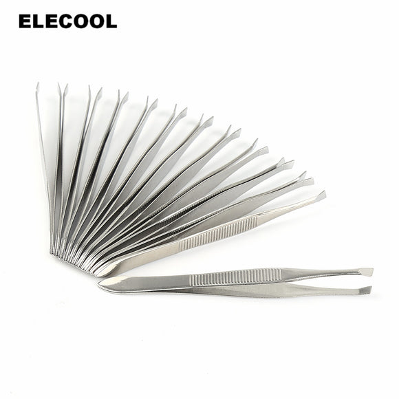 12pcs/set Professional Stainless Steel Tweezers, make up, La.Ma.Cosmetics, La.Ma.Cosmetics - La.Ma.Cosmetics
