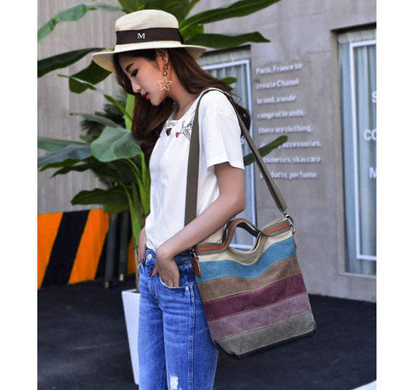 Casual Canvas Shoulder Bag, Handbag, La.Ma.Cosmetics, La.Ma.Cosmetics - La.Ma.Cosmetics