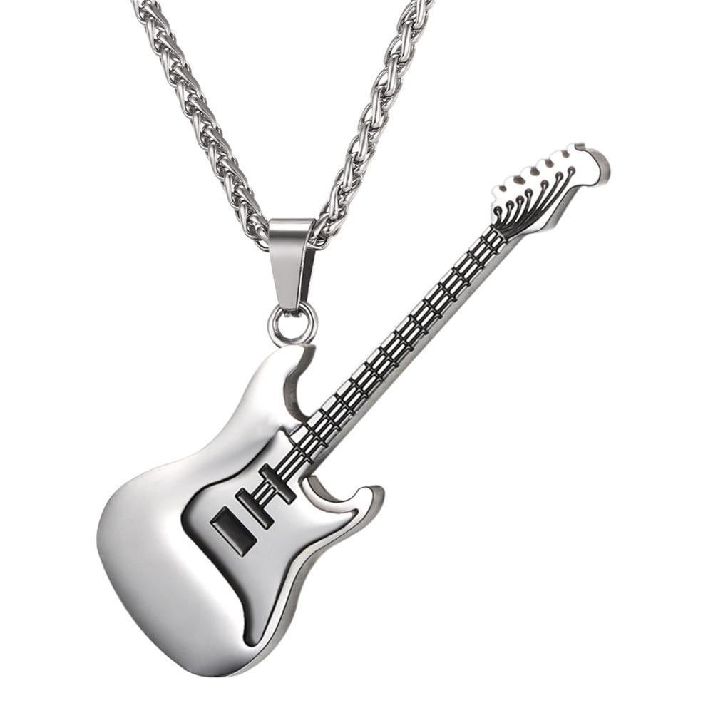 rock products guitar of punk necklace steel university stainless
