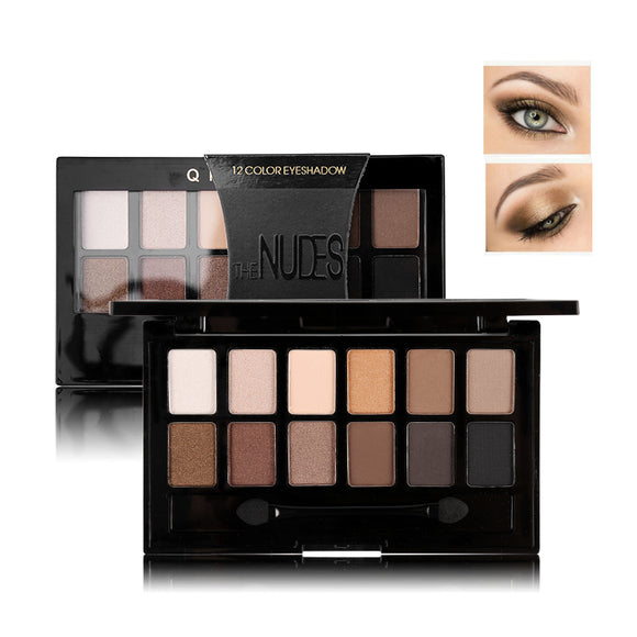 12 Colors Pro Earth Eyeshadow with Brush, make up, La.Ma.Cosmetics, La.Ma.Cosmetics - La.Ma.Cosmetics