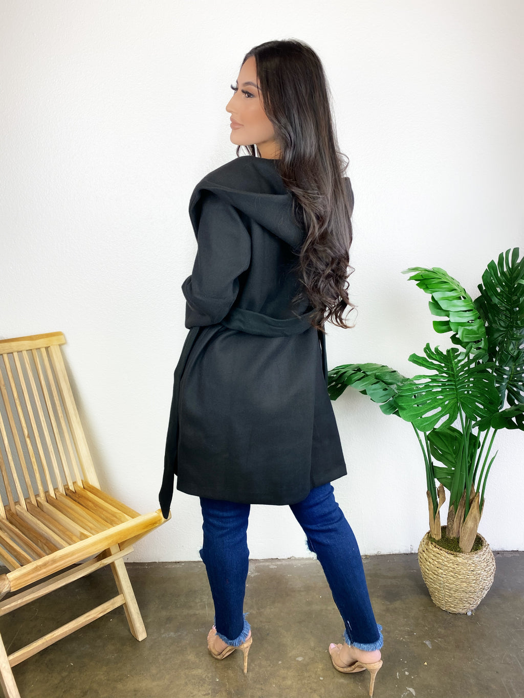Zoey Hooded Coat (Black)