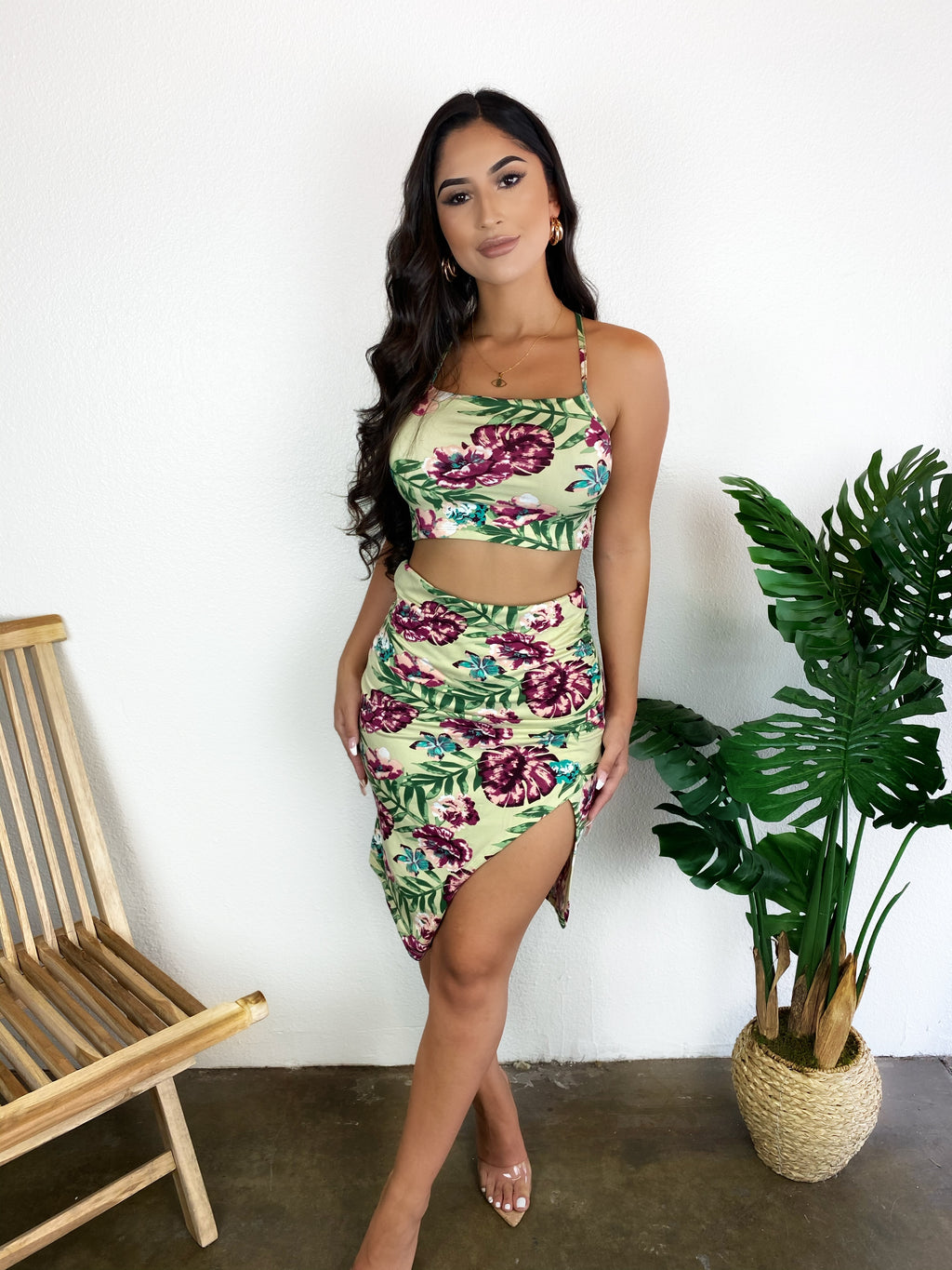 Elsy Floral Set (Light Green)