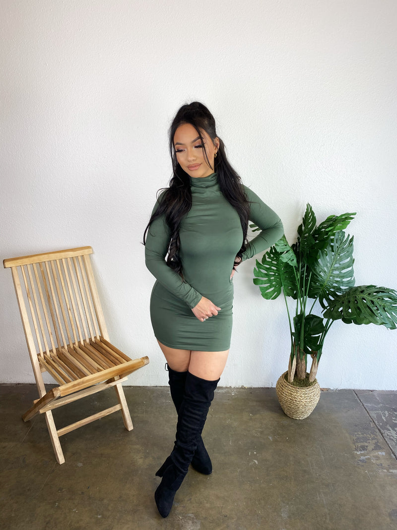 Jillian Dress (Olive)