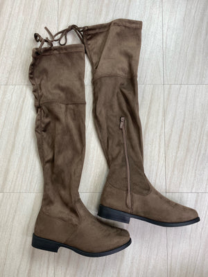 *Defective* Stella Thigh High Boots (Taupe)