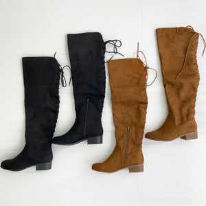 Barbra Lace Up Boots (Chestnut)