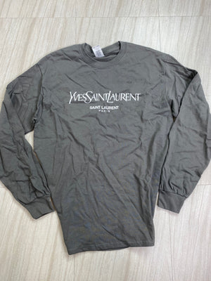 *Defective* YSL Long Sleeve Top (Charcoal)