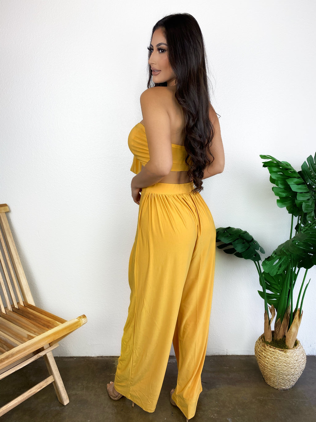 Shayla Set (Light Mustard)