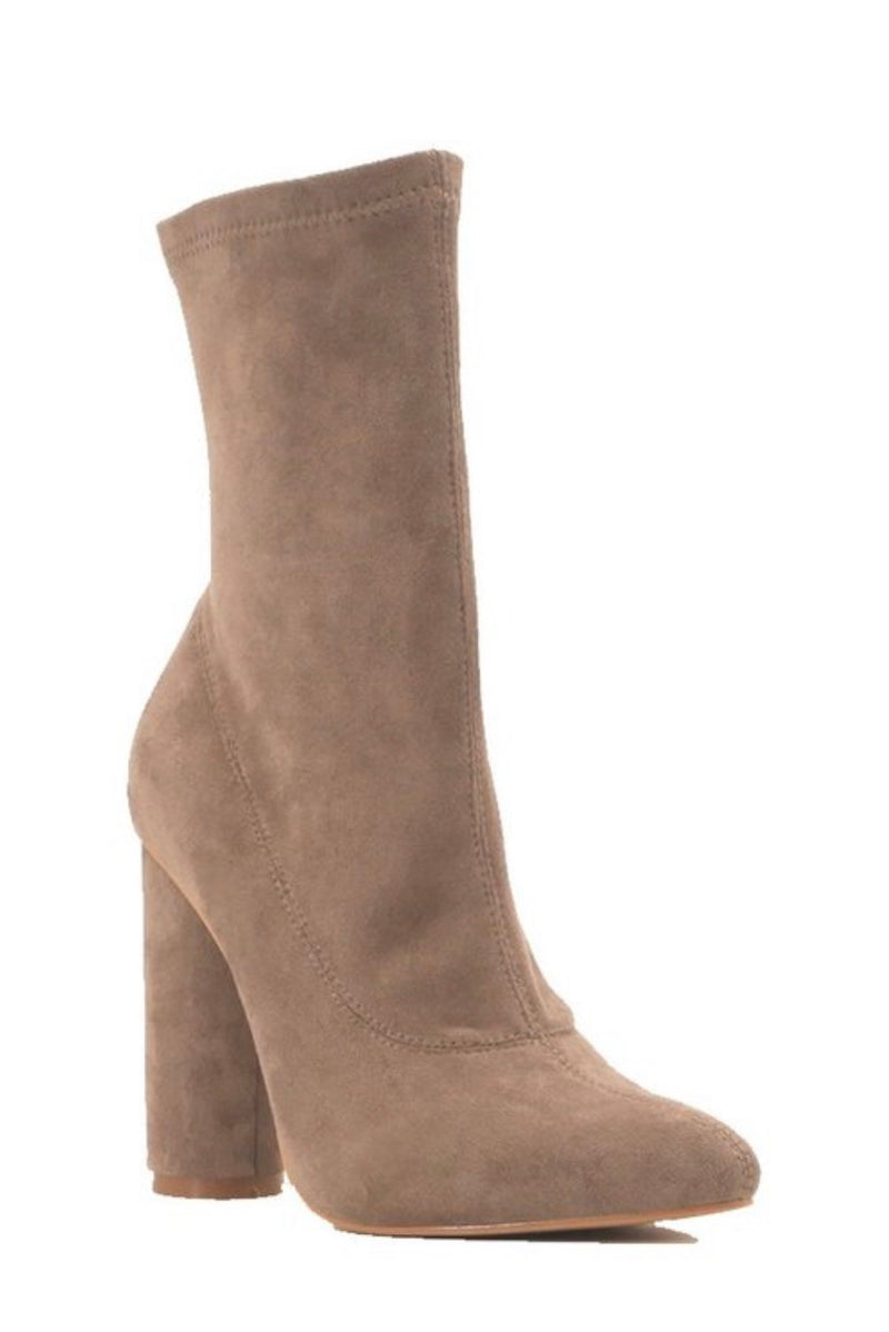 Gia Ankle Booties (Taupe)