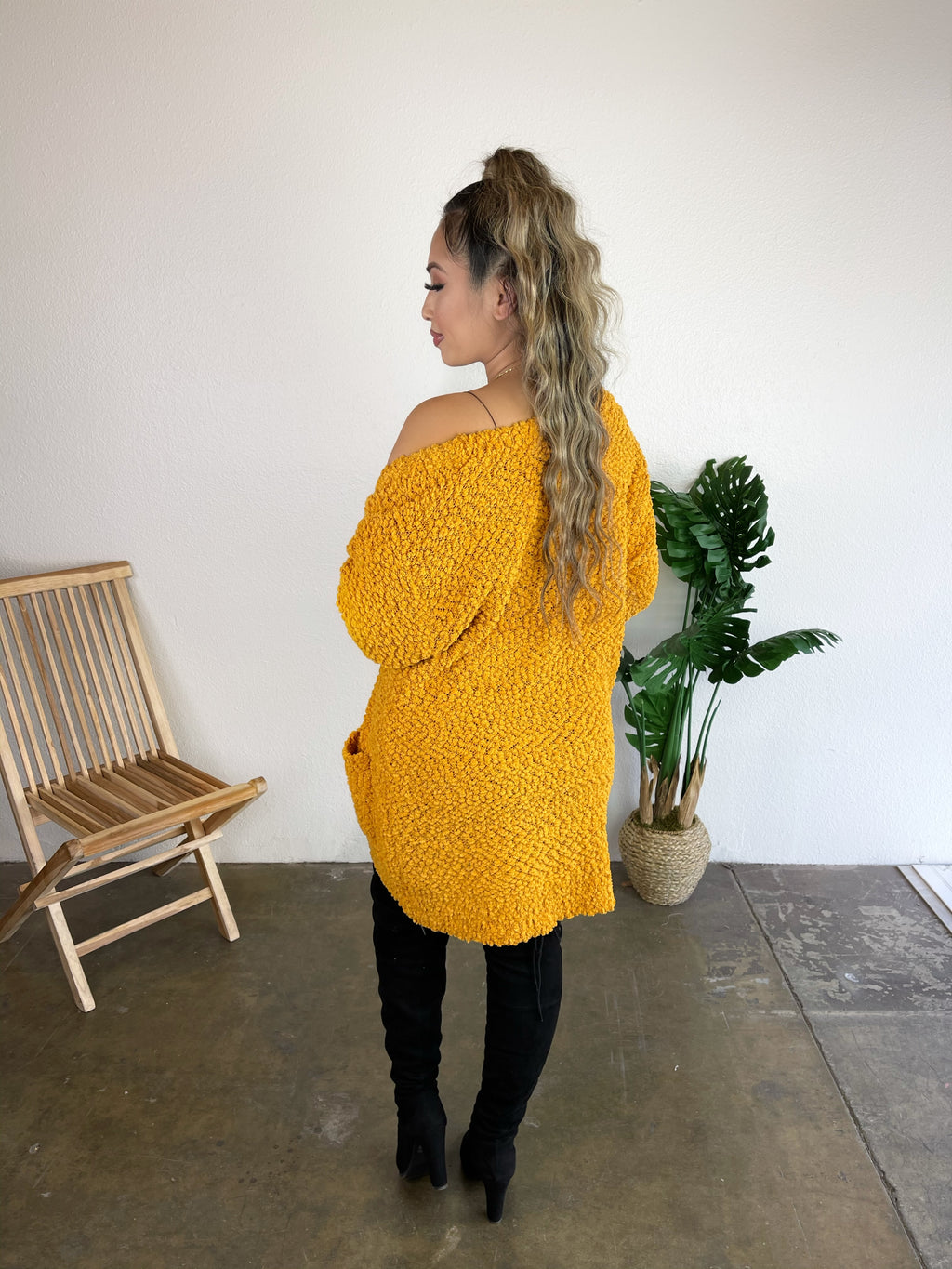 Cozy Cardigan (Golden Mustard)