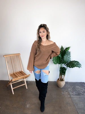 Sammy Oversized Sweater (Mocha)