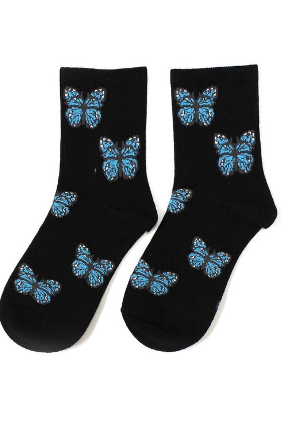 Cutie Butterfly Socks (Black)