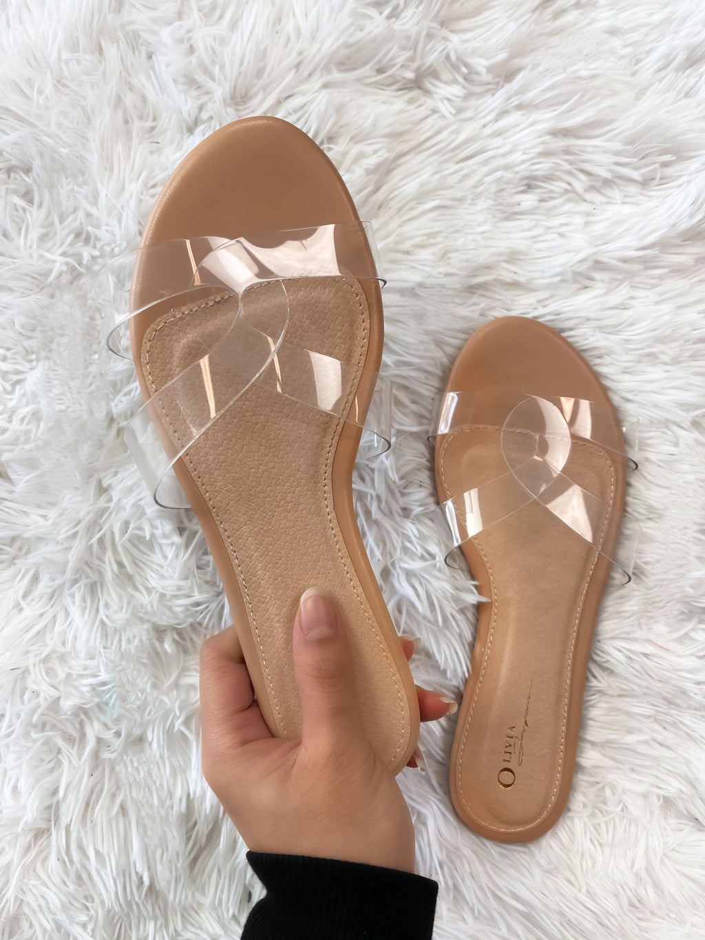 Paradise Clear Sandals (Nude)