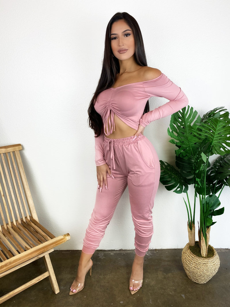 Wendy Jogger Set (Mauve)