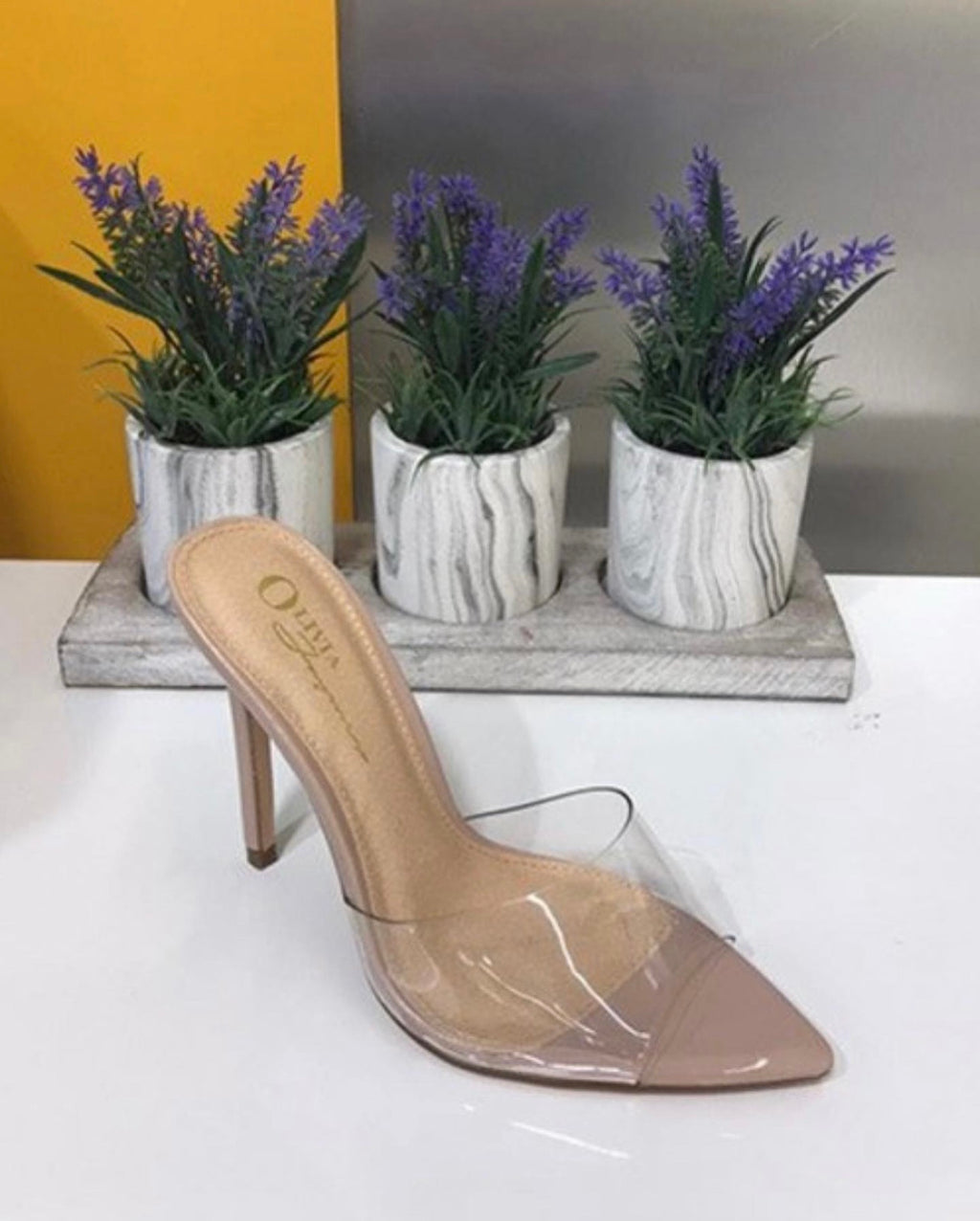 Michelle Clear Heels (Nude)