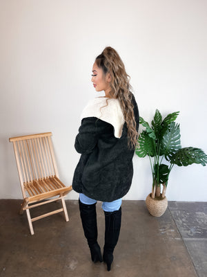 Cuddle Me Teddy Jacket (Olive)