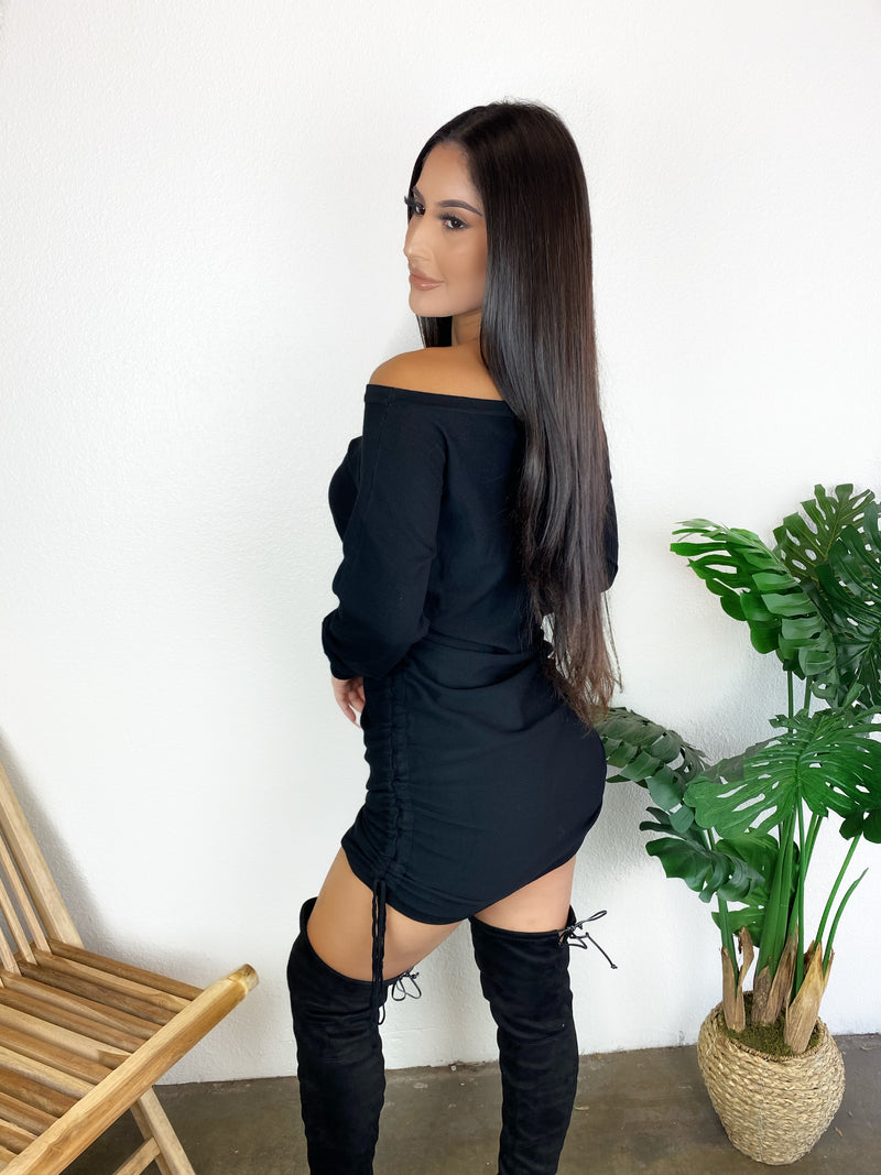 Karla Sweater Dress (Black)