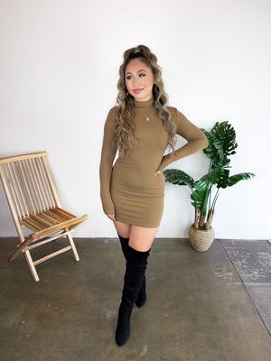 Kylie Dress (Mocha)