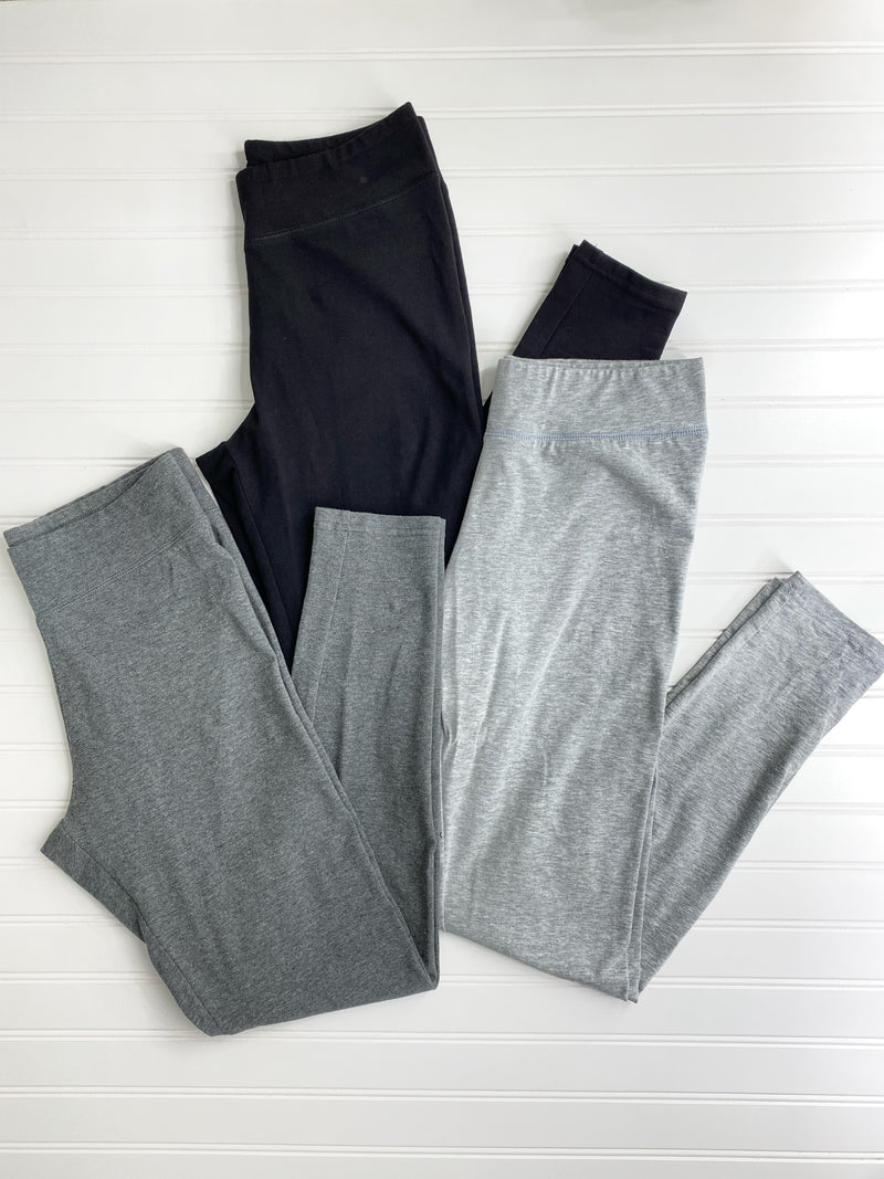 Khloe High Rise Leggings (Heather Grey)