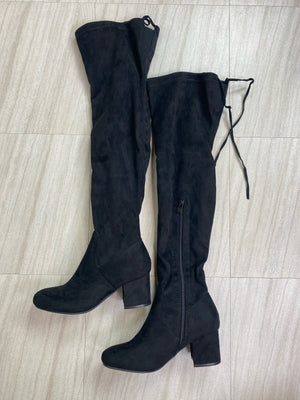 *Defective* Lucy Thigh High Heeled Boots (Black)