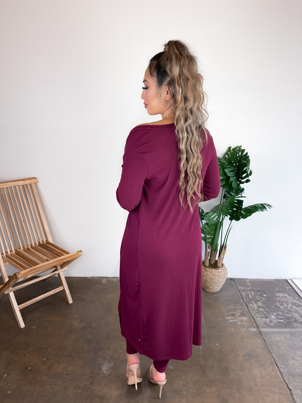 Kiara 2 Piece Set (Burgundy)