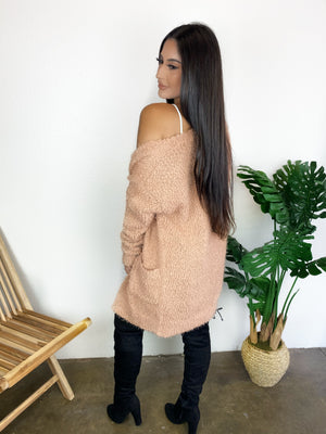 Coffee Date Cardigan (Light Clay)
