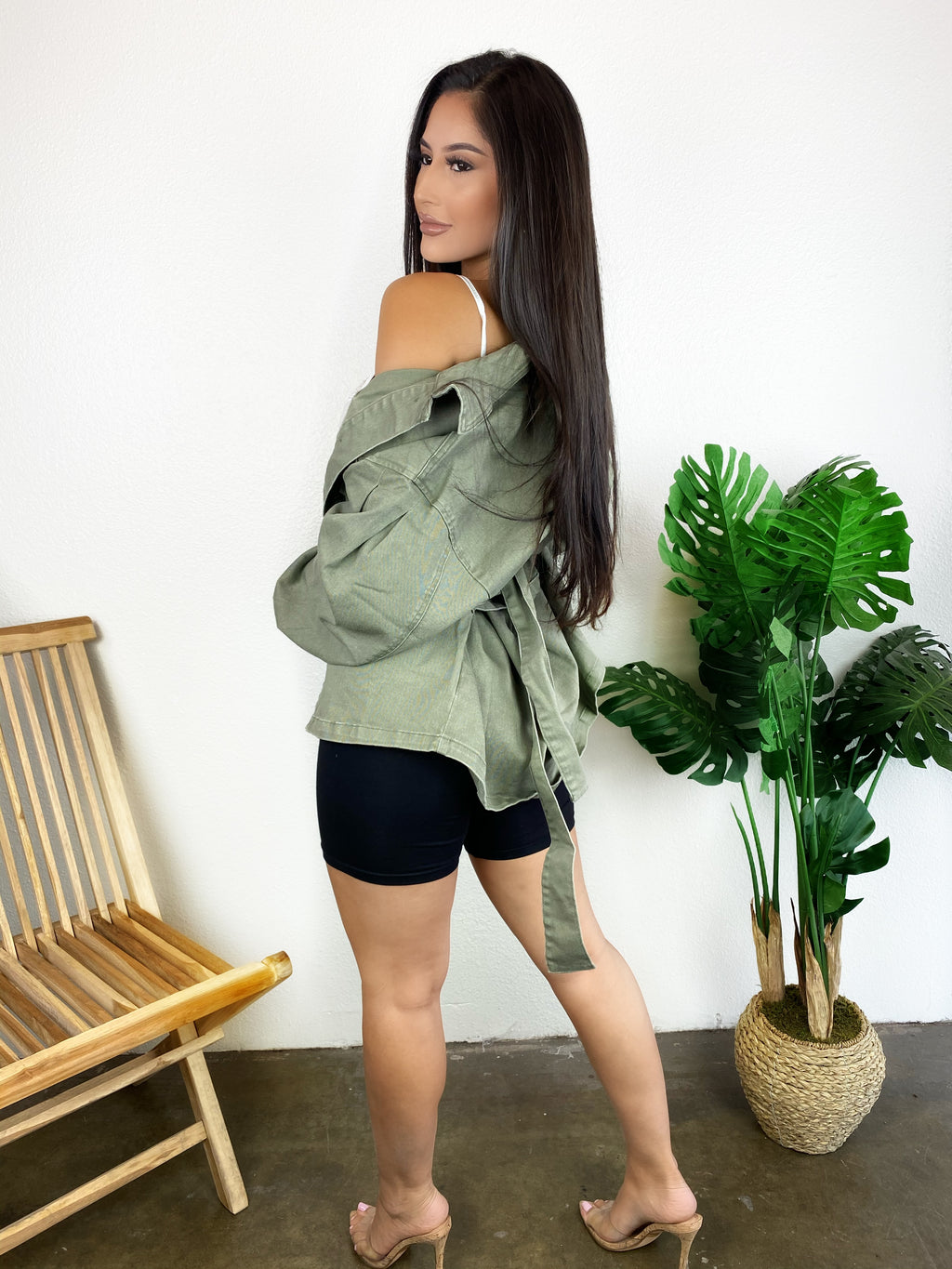 Tiffany Oversized Jacket (Olive)