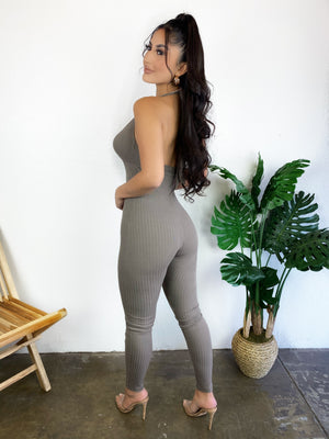 Marie Jumpsuit (Taupe)
