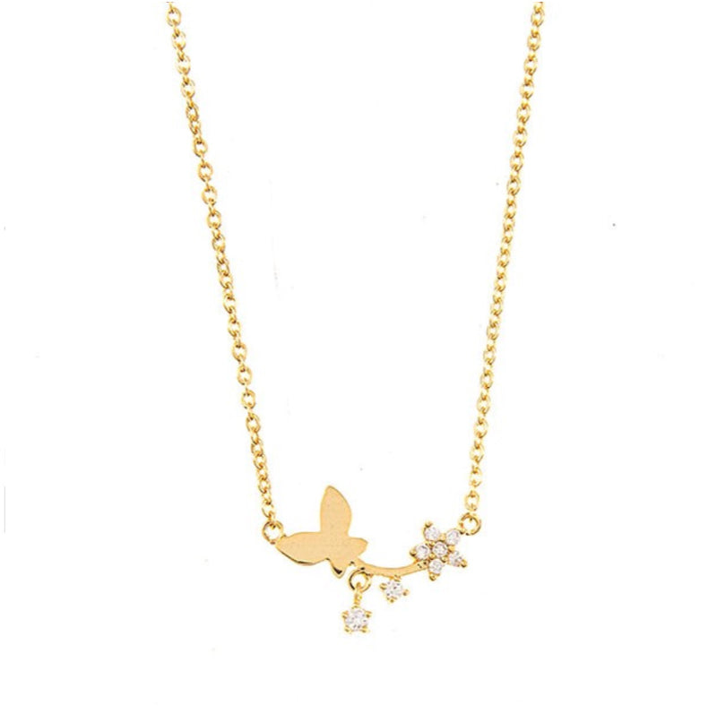Ameera Butterfly Necklace (Gold)