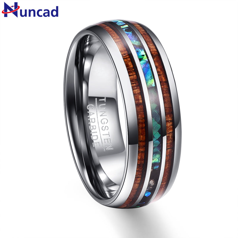 polished men rose guarantee fit brushed ring comfort beveled for plated rings lifetime tungsten edge ip wedding women gold band