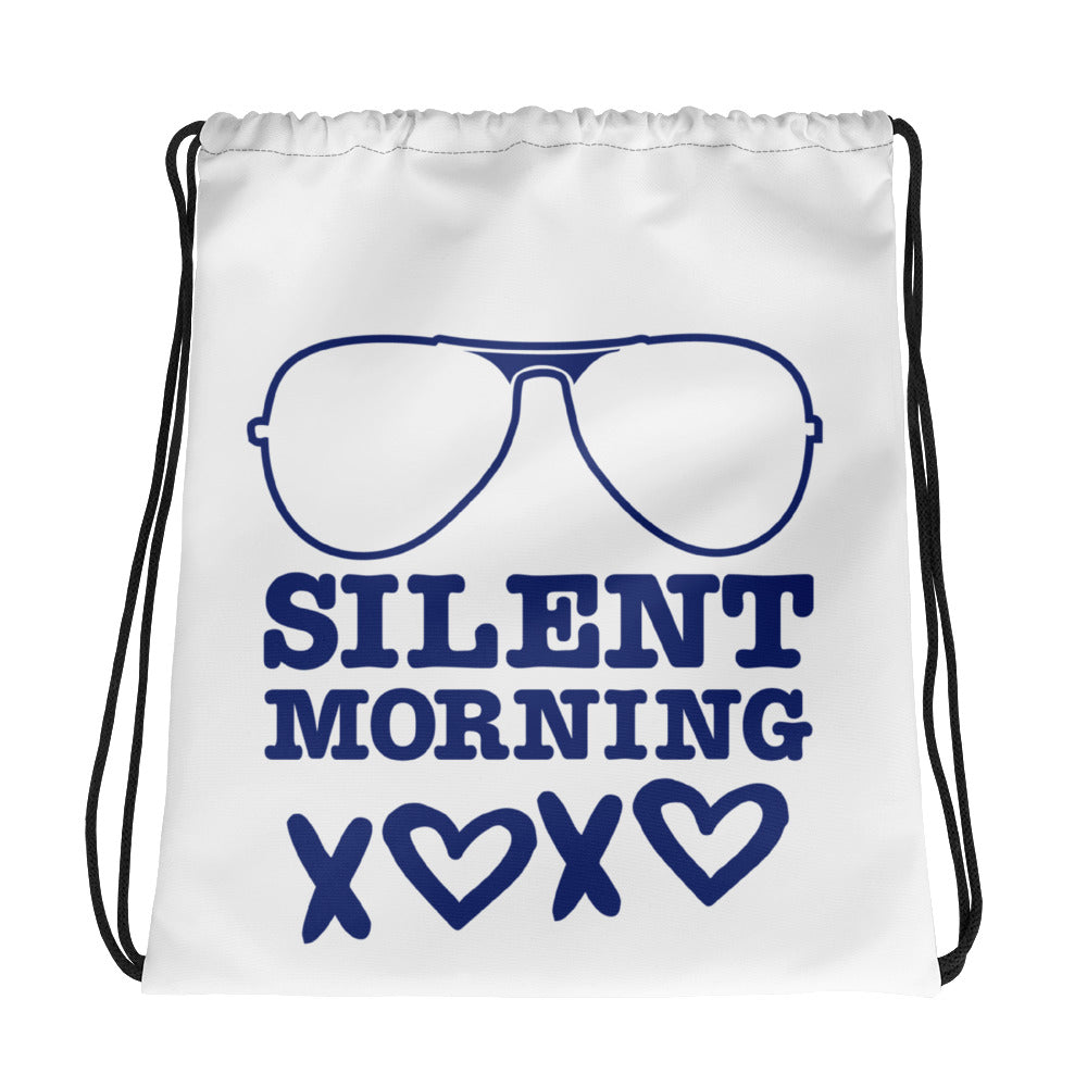 Silent Morning Xoxo Drawstring bag