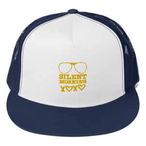 Silent Morning Xoxo Trucker Cap Yellow Blue