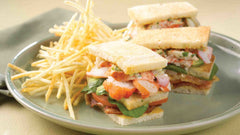 Maine Lobster Club Sandwich