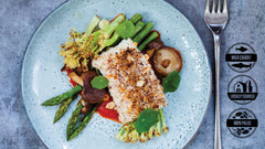 Grilled Halibut w/ Lemon-basil Vinaigrette