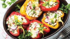 Lobster and Italian Sausage stuffed Peppers