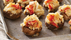 Maine Lobster and Crab Stuffed Mushroom Caps