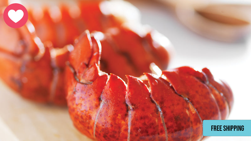 Exclusive Offer: 8 (4-5oz) Lobster Tails w/ FREE Shipping