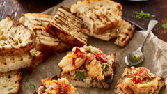 Maine Lobster on Garlic & White Bean Bruschetta