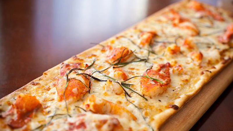 Roasted Garlic and Potato Lobster Flatbread