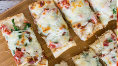 Smokey Bacon, Mushroom and Lobster French Bread Pizza