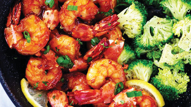 Sticky Honey Garlic Butter Shrimp