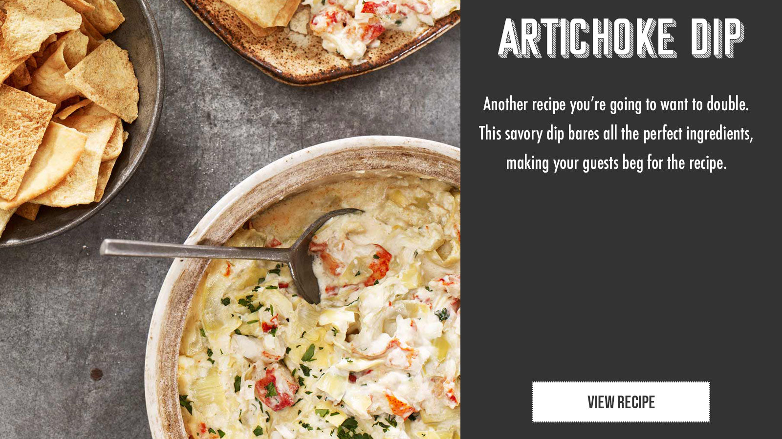 Maine lobster artichoke dip