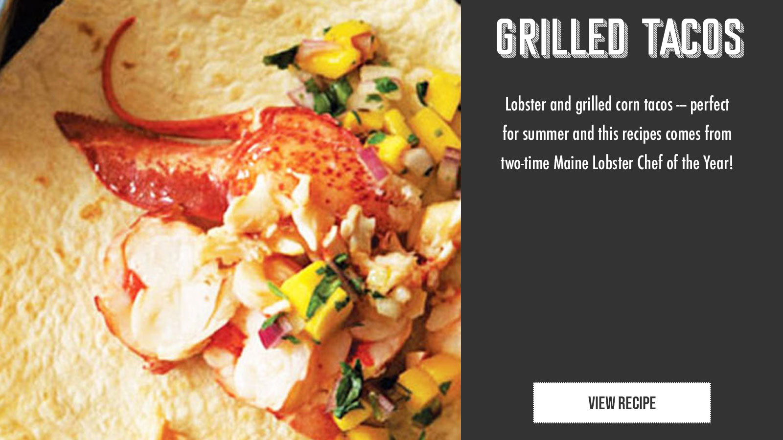 Grilled lobster tacos