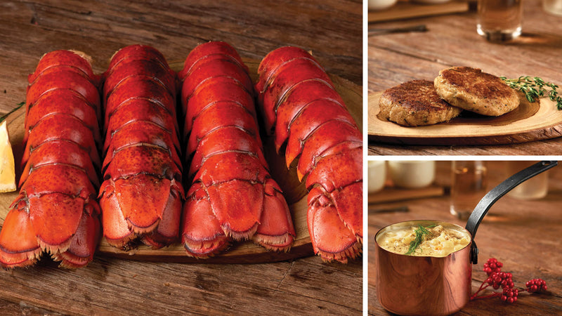 Stuffed Maine Lobster Tail Dinner for 4