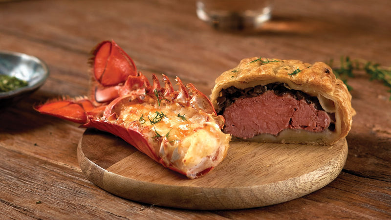 Buy 4 Beef Wellington, Get 8 Tails FREE (3-4oz)