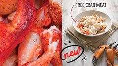 Buy Maine Lobster Meat, Get Crab Meat FREE